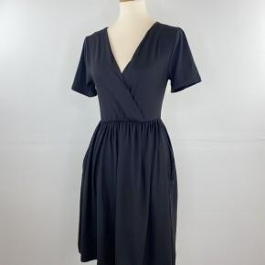 Favorite V-Neck Empire Waist Dress in Black