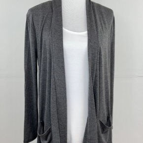 The Perfect Year-Round Cardigan in Charcoal