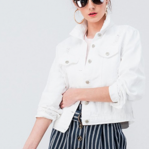 The Perfect Spring Time White Denim Jacket