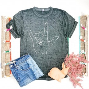 HE LOVES YOU Burnout Tee