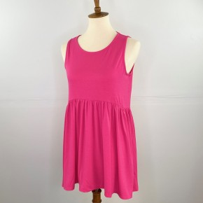 The Perfect Babydoll Tank in Hot Pink