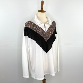 The Cozy Cheetah Half Zip Sweater