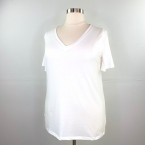 The New Classic V-Neck Tee in Ivory