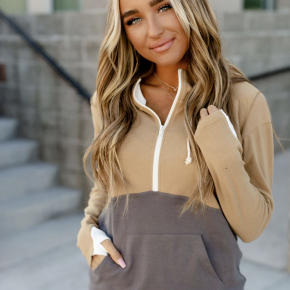 The Happy Camper Half Zip Sweatshrit