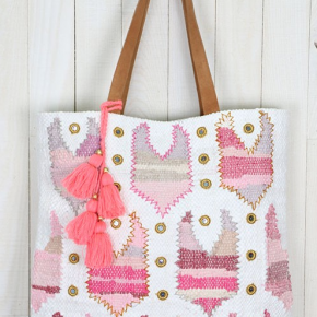 The Bathing Suit Beach Bag in Blush