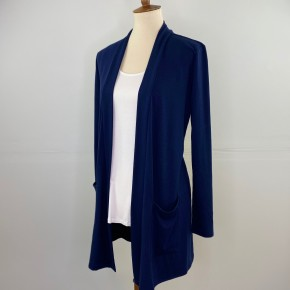 The Perfect Year-Round Cardigan in Navy