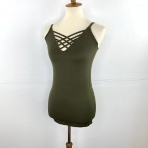 Olive Long Cage Cami