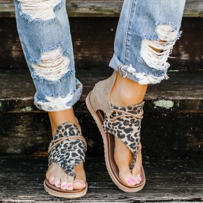 The Rustic Leopard Sandal