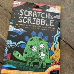 Mini Dino Days Scratch & Scribble Card Kit