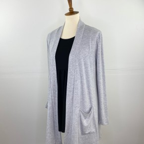 The Perfect Year-Round Cardigan in Heather Grey