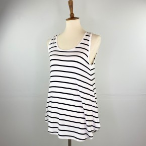 Favorite Striped Swing Tank in Ivory and Black