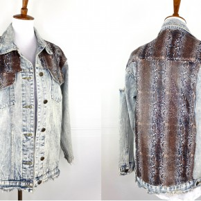 The Slickest Snake Denim Jacket