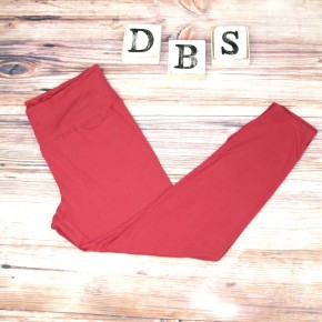 High Waisted Yoga Leggings in Red Coral