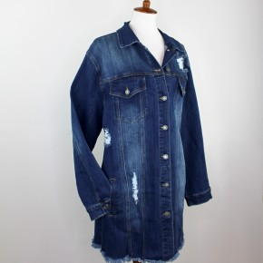The Lindsay Longline Denim Jacket