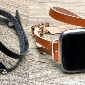 Genuine Leather FitBit Versa Band