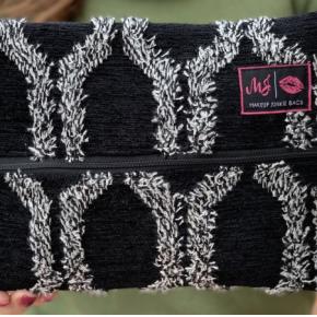 The Black Shag Makeup Junkie Bag