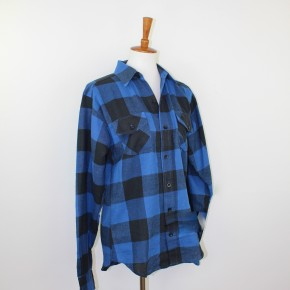 Blue + Black Lumber Jack Flannel Shirt