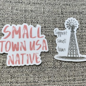 Small Town Proud Decals