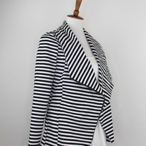 The Jett Jacket in Black + White Stripes