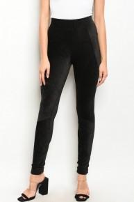Black Velvet Corduroy Leggings