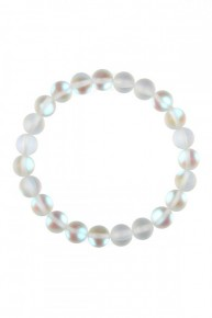 White Chic Colored Mermaid Glass Stretch Bracelet