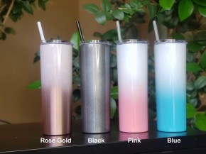 Ombre Sparkle Tall Travel Cups