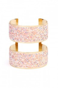 Pink & Gold Sequin Double Cuff Bracelet