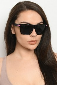 SURPRISE Thick Square Frame Sunglasses