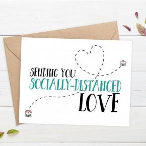 'Sending You Socially-Distanced Love' card
