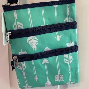 Mint arrow crossbody bag