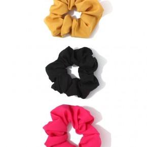 Trio of hair scrunchies