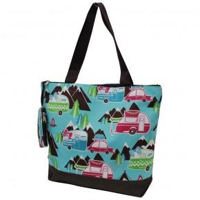 Happy Camper Canvas Tote Bag