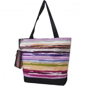 Stripes Canvas Tote Bag