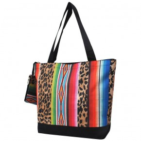 Leopard Serape Canvas Tote Bag
