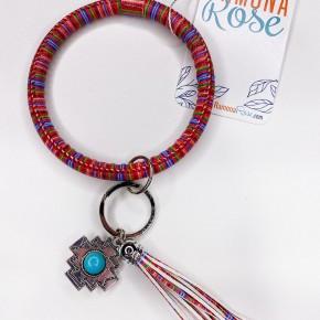 Bangle keychain aztec tassel