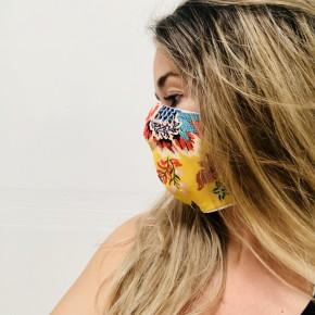 Marigold Floral Face Mask