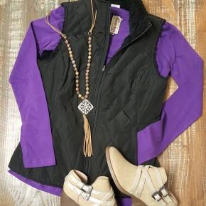 Ariat Women's Black REVERSIBLE Hallstatt Vest