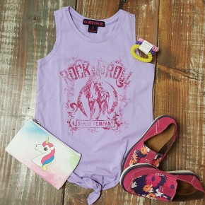 GIRL'S Rock & Roll Lavender Horse Tank