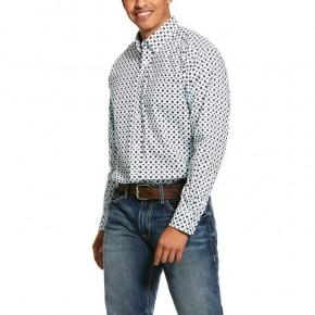 Ariat Men's Kaleb Print Stretch Classic Fit Shirt