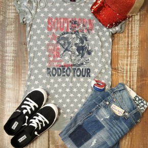 RRCG Vintage Grey Southern Rodeo Tour Tee
