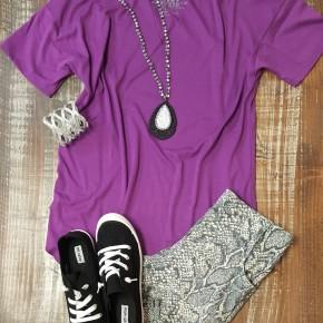 Crazy Train Purple Textline Top