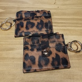 Leopard Clip On Card Holder