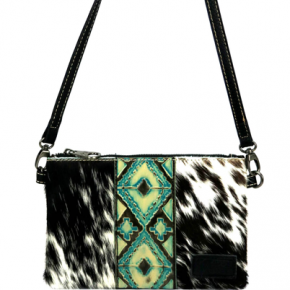 MW Hair-On Cowhide Leather Clutch/Crossbody
