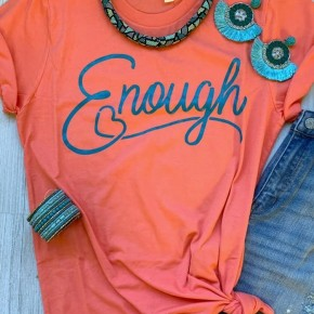 Cheeky's We are Enough Coral with Shimmer Teal
