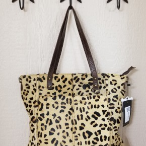 AD Hair On Hide Leopard Purse