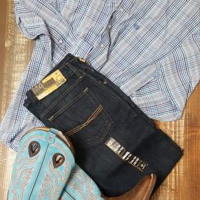 Panhandle Men's Blue Plaid Long Sleeve
