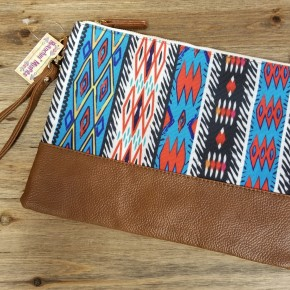 Red Southwest Wristlet