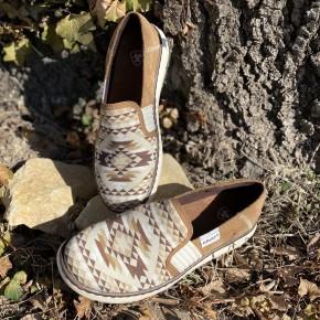 Ariat  Tan Diamond Aztec Ryder Shoe