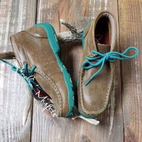 Twisted X Bomber/Turquoise Kid's Driving Mocs
