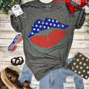 Patriotic Lips Tee